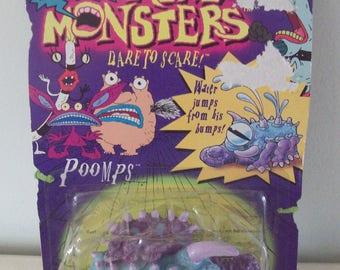 Aaahh Real Monsters Poomps Figure in Package Mattel 1995 Vintage Nickelodeon Nick Nicktoons