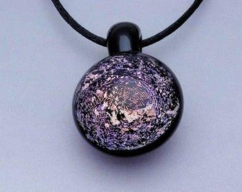 Glass Galaxy Pendant ~ Blown Glass Pendant ~ Dichroic Necklace ~  Borosilicate Pendant ~ Trippy Pendant (D5217A)