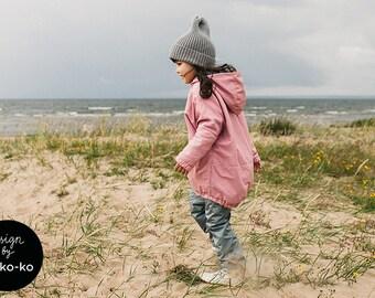 PINK WATERPROOF PARKA for kids