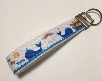 Noahs Ark Two by Two Animals Key Fob Keychain wristlet