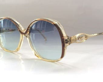 70s Vintage French Robert Claude Round Frame Womens Ladies Sunglasses