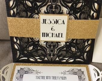 The Great Gatsby Wedding Invitations