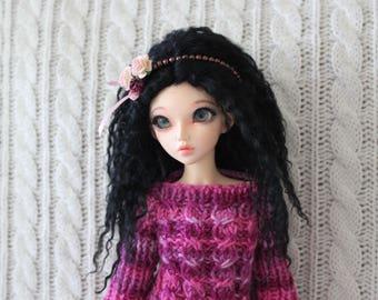 Raven Black mohair wig for Minifee / MSD