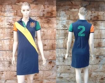 Vintage 1990's Ralph Lauren Polo Emblem Sports Dress