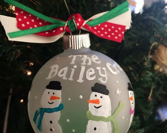 Personalized family of snowman