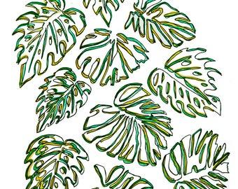 minimalist ink print: Golden Girls Wallpaper