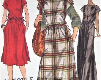 Vintage Dress Sewing Pattern UNCUT Vogue 9656 Size 8