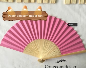 Peachblossom paper fan for wedding guests,before 3.00 Now2.00,harry up!