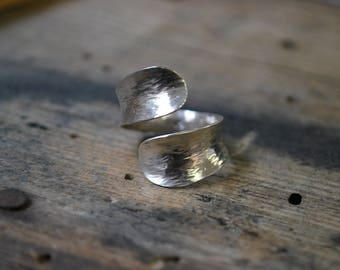 Forged sterling silver Adjustable ring