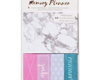 Marble Crush American Crafts Memory Planner Sticky Note Pack (375060)