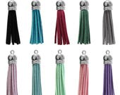 Custom for Kasandra - 50 Tassel Rainbow Pack - 60mm faux suede tassels - 10 colors - 5 of each color