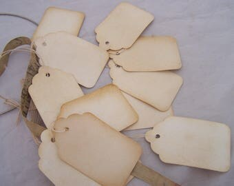 200 x distressed  Price tag labels Western Old Fashion Antique Resale supplies wholesale lot
