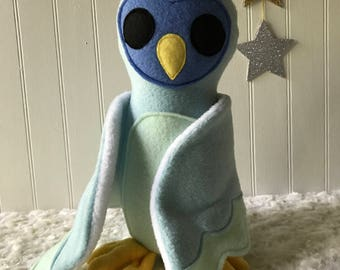 Blue Owl, Plush Owl, Toy Owl