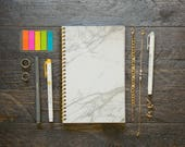 Medium Weekly Planner (180-Pages)   12 Months   Marble Planner