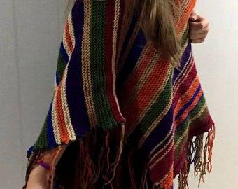 Boho Poncho, Wool Poncho, Crochet Poncho, Womens Ponchos, Knit Poncho, ponchos