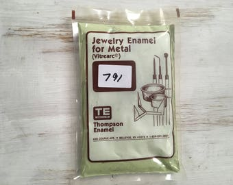 Green Liquid Enamel, Hunter Thompson Enamel, Liquid Enamel, Powdered Glass, Enameling Supplies, Kiln Enamel, Torch, 1 oz. sample enamel