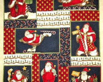 Primitive Santa Panel Fabric