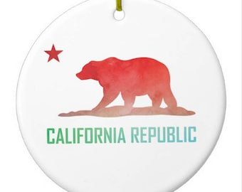 California Flag Christmas Ornament