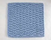 Cotton Dishcloth, Kitchen Washcloth, Knitted Dishcloth, Facial Washcloth, Face Cloth, Blue Kitchen decor