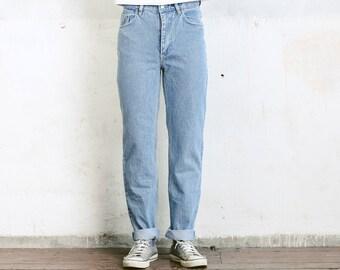 """Vintage Levis 501 XX Jeans Size 31"""" . Blue Denim Worn In W31 Dad Jeans 80s Boyfriend Jeans Straight Leg High Waist"""