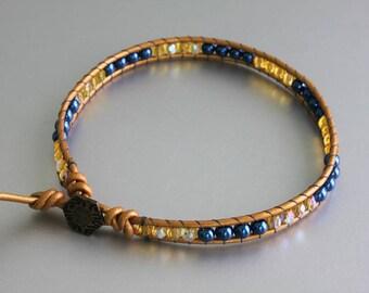 Wrap Beaded Anklet - Glass Beads Anklet - Friedship Bracelet -Teen Anklet - Hippie Anklet - Boho Anklet