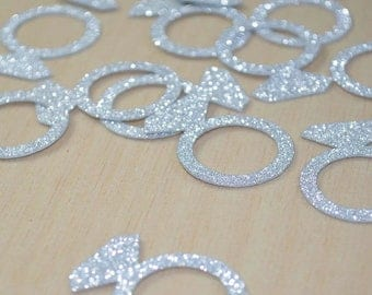 SummerSale JUMBO Bling Diamond Engagement Ring CONFETTI for bridal showers, bachelorette party, engagement parties and more!