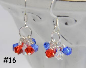 RESERVED - Swarovski Crystal Cluster  Earrings with Surgical Steel