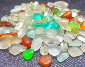 Beach Glass or Sea Glass of Hawaii beach 100 AQUA! JEWELRY QUALITY  for drilling!! Bulk Sea Glass! Sea Glass Bulk Seaglass