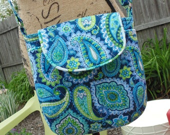 Cross Body Purse, Quilted Bag, Shoulderbag
