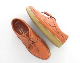 Vintage Moccasin Shoes * Oxford Shoes * Clarks Padre Lites * size 8 / 39