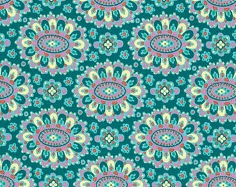 Amy Butler - Eternal Sunshine - Cloisonne - in Lake Free Spirit Fabrics  - you choose the cut
