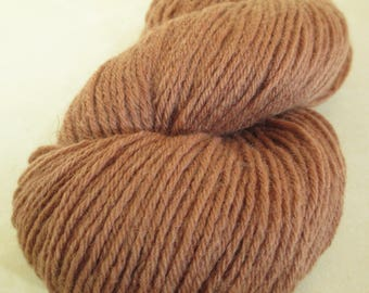 Hand-Dyed Yarn - Willow Bark Plant Dye - 9 Year Anniversary Gift - Worsted-Weight Wool - YAW101919 - 100 grams