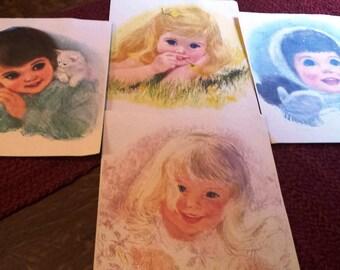Set of 4 vintage prints American Beauties Northern Tissue girls by Frances Hook