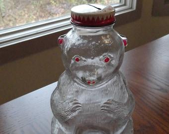 Vintage Bear Bank Snow Crest Bank Bottle Great Gift