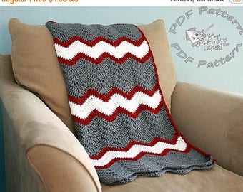 Pattern on the Month Crochet afghan pattern, chevron blanket pattern, crochet throw patten, easy baby blanket pattern, crochet chevron patte