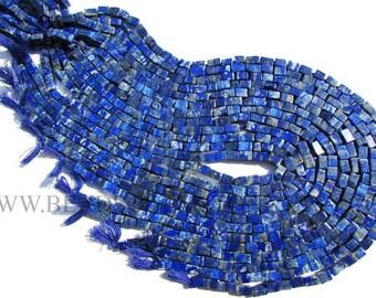 Gemstones, Lapis Lazuli Smooth Brick (Quality B) / 4x6 to 5x7 mm / 36 cm / LA-069