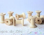 50 medium wooden spools - crafts - embellishments - Ready to Ship.