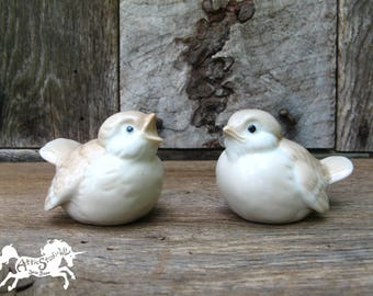 PORCELAIN BABY BIRDS by Otagiri Mercantile Company Japan, 3 Inches Long 2 Inch Tall Collectible Figurines Cute Bird KnickKnack Knick Knack