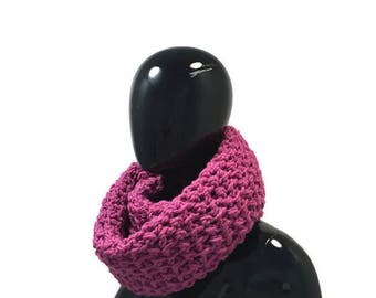 Chunky Wool Crochet Scarf, Womens' Scarf, Infinity Scarf - Textured Chainlink  Circle Scarf - 24 Color Options