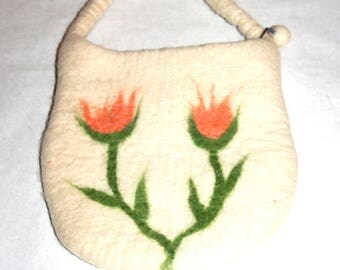 Super Sunny Cute Little Felted Handbag