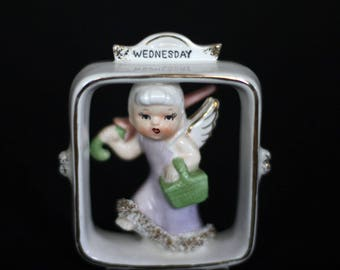 vintage lefton wednesday child figurine