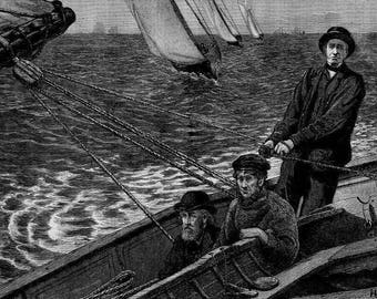 Yachting 1873 Harpers Weekly 8 x10 image reproduction