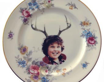 "Deer Ol' Chunk Portrait Plate 6.75"""