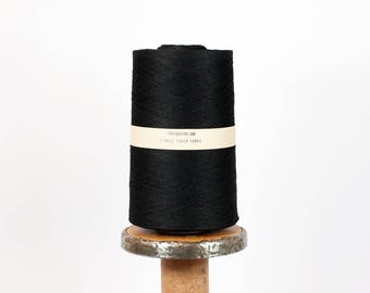 Finest Black Paper Yarn - Whole Bobbin (11.000 yds / 10.000m) - DIY, Calligraphy, Weave, Embroider, Art Projects
