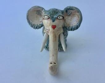 Elephant Small Blue