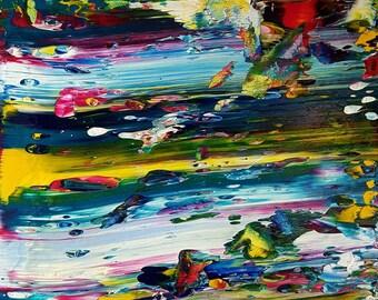 Underwater Adventure Original Canvas Painting