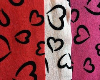 Fanci-Felt Sheets-9x12 Individual Felt Sheets-Discontinued Felt-Valentine Crafting-Acrylic Felt Sheets-Eco-Fi Felt Pieces-DIY Arts & Crafts