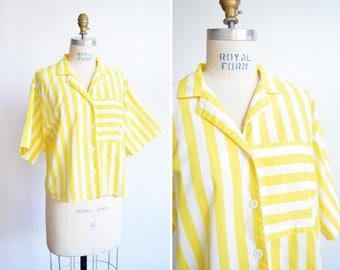Vintage 1980s STRIPED cotton shirt