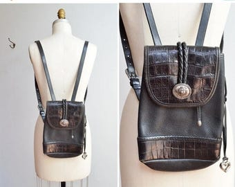 25% off Storewide // SALE / Vintage 1980s BRIGHTON leather backpack