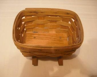 Vintage Signed 1986 Longaberger Small Baby Cradle Rocker Basket